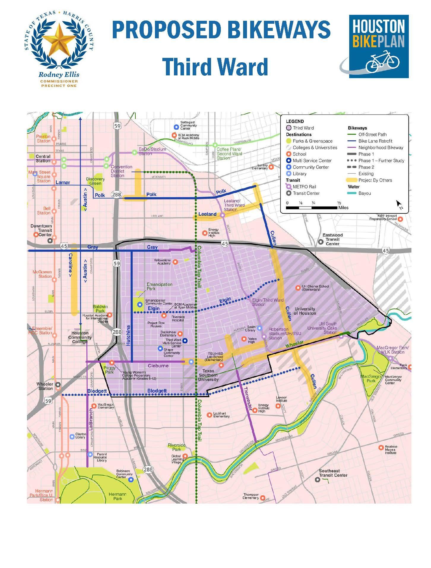 Third Ward Houston Bike Plan